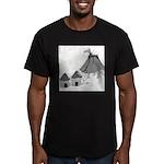 Volecano (no text) Men's Fitted T-Shirt (dark)