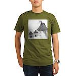 Volecano (no text) Organic Men's T-Shirt (dark)