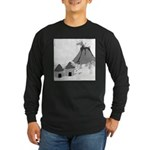 Volecano (no text) Long Sleeve Dark T-Shirt