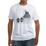 Volecano (no text) Fitted T-Shirt