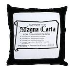 Support The Magna Carta ! Throw Pillow