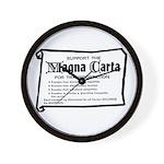 Support The Magna Carta ! Wall Clock