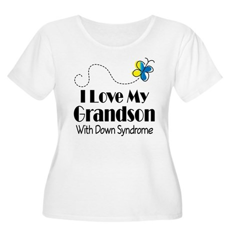 Down Syndrome Grandson Women's Plus Size Scoop Nec