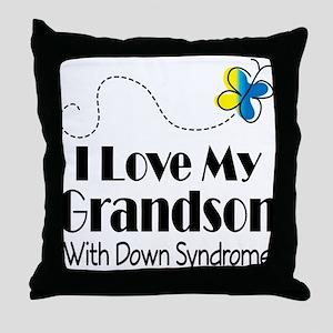 Down Syndrome Grandson Throw Pillow