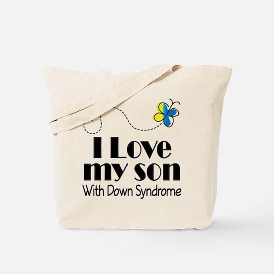 Down Syndrome Son Tote Bag