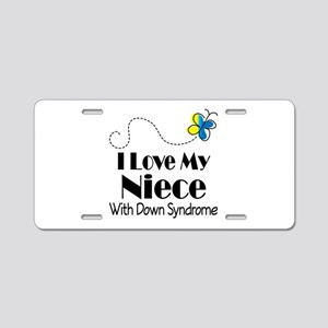 Down Syndrome Niece Aluminum License Plate