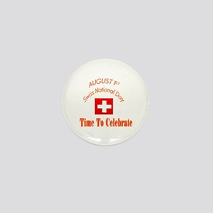 August 1st Swiss National Day Mini Button