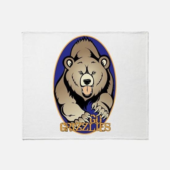 Go Grizzlies Throw Blanket