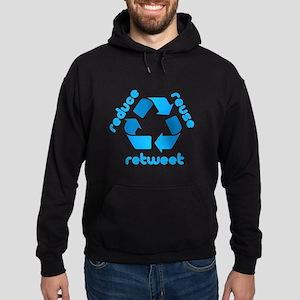 Reduce Reuse Retweet Hoodie (dark)