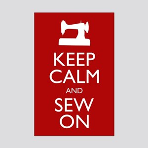 Keep Calm and Sew On - Mini Poster Print