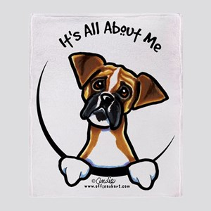 Funny Boxer Throw Blanket