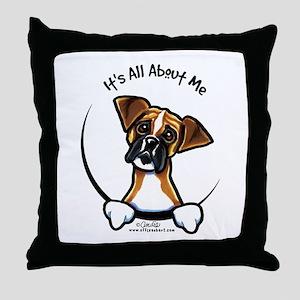 Funny Boxer Throw Pillow