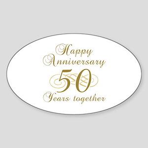 50th wedding anniversary stickers cafepress