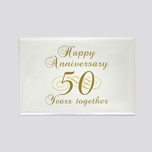 Stylish 50th Anniversary Rectangle Magnet