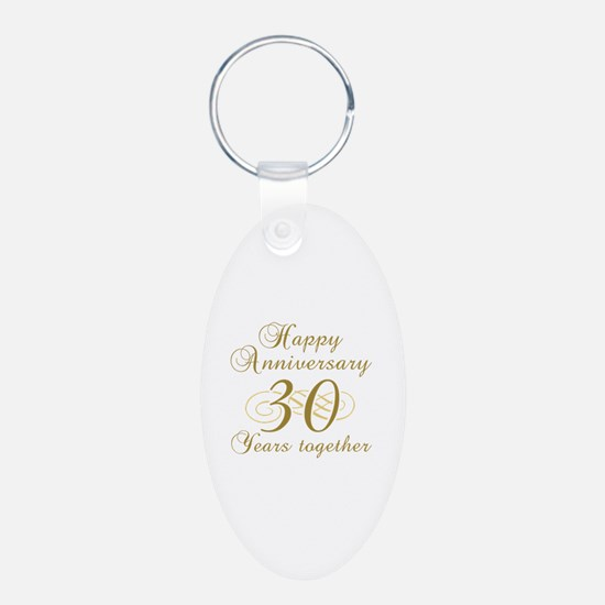 Stylish 30th Anniversary Keychains