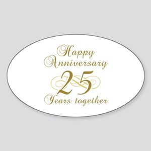 Stylish 25th Anniversary Sticker (Oval)