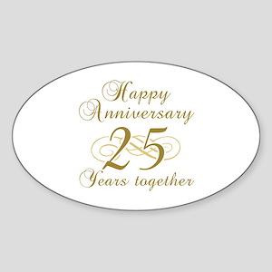 Stylish 25th Anniversary Sticker (Oval)
