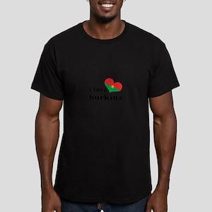 i love burkina Men's Fitted T-Shirt (dark)