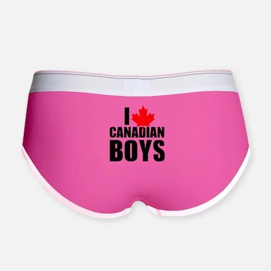 i heart canadian boys Women's Boy Brief