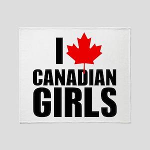 i heart canadian girls Throw Blanket