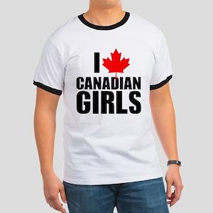 i heart canadian girls Ringer T