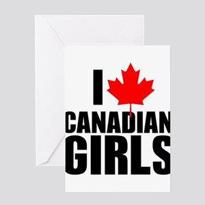 i heart canadian girls Greeting Card