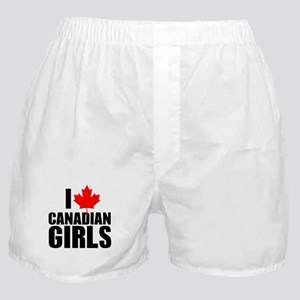 i heart canadian girls Boxer Shorts