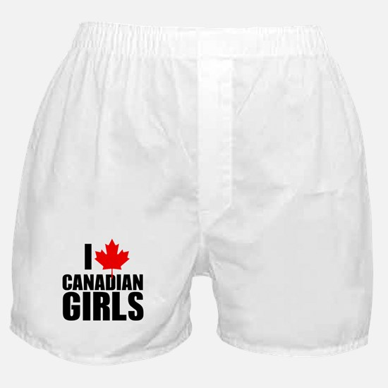 i heart canadian girls Boxer Shorts