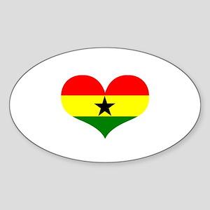 ghana designs Sticker (Oval)