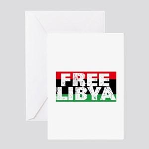 free libya block Greeting Card