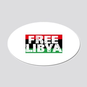 free libya block 22x14 Oval Wall Peel