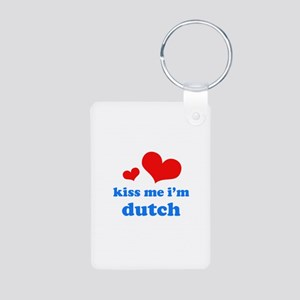 kiss me i'm dutch Aluminum Photo Keychain