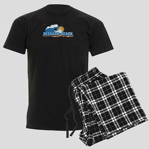Bethany Beach DE - Waves Design Men's Dark Pajamas