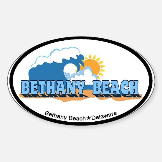 Bethany Beach DE - Waves Design Sticker (Oval)