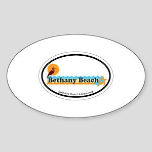 Bethany Beach DE - Beach Design Sticker (Oval)