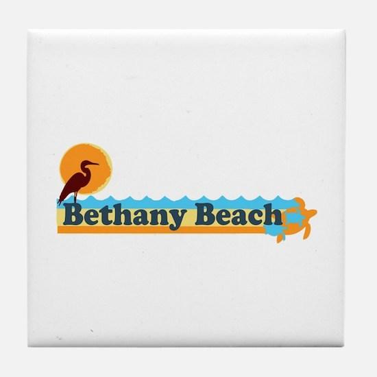 Bethany Beach DE - Beach Design Tile Coaster