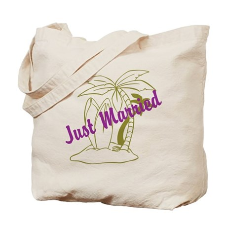 Just Married Tote Bag. Design on both sides!