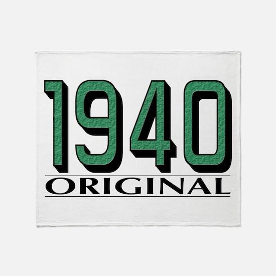1940 Original Throw Blanket