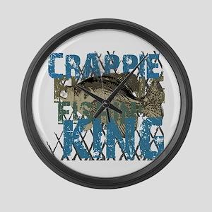Crappie Fishin' King Large Wall Clock
