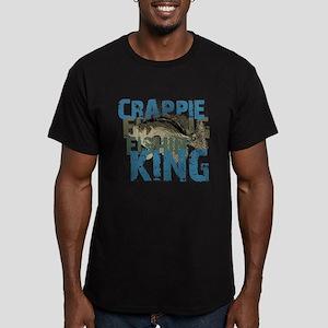 Crappie Fishin' King Men's Fitted T-Shirt (dark)