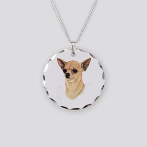 Chihuahua Necklace Circle Charm