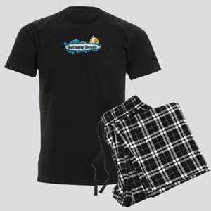 Bethany Beach DE - Surf Design. Men's Dark Pajamas