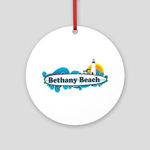 Bethany Beach DE - Surf Design. Ornament (Round)
