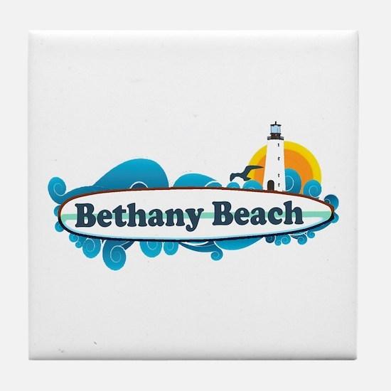 Bethany Beach DE - Surf Design. Tile Coaster