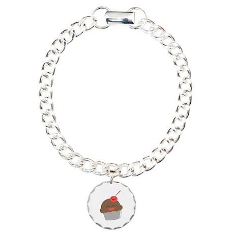 """""""Happy Cupcake"""" Charm Bracelet, One Charm"""