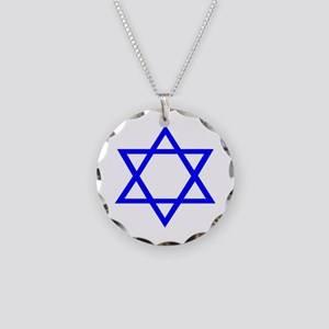 STAR OF DAVID Necklace Circle Charm