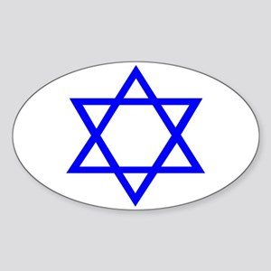 STAR OF DAVID Sticker (Oval)