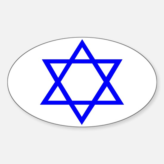 STAR OF DAVID Sticker (Oval)