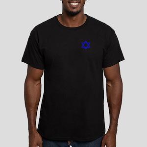 STAR OF DAVID Men's Fitted T-Shirt (dark)