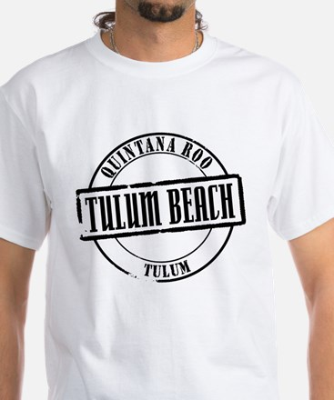 Tulum Beach Title White T-Shirt